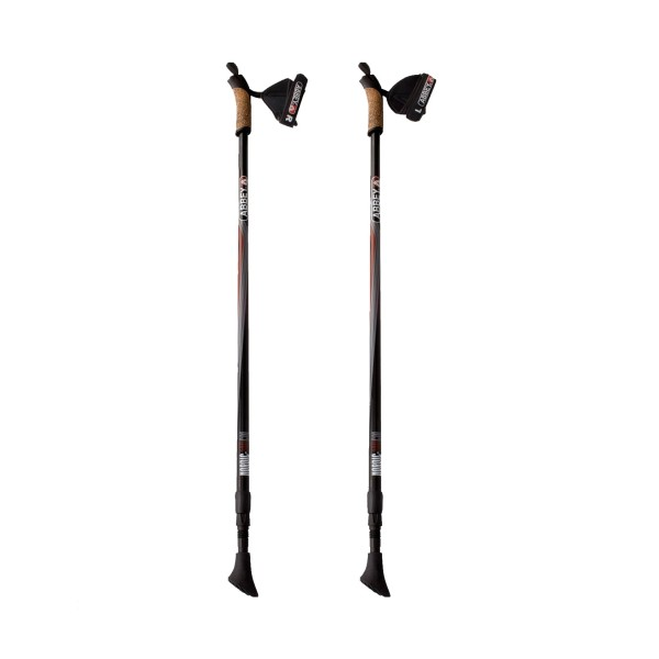 Abbey Hiking Cane Aluminium Black