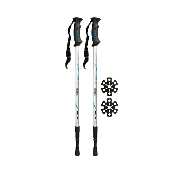 Abbey Hiking Cane Adjustable Aluminium Silver
