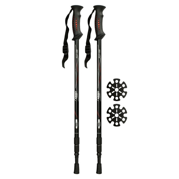 Abbey Hiking Cane Adjustable Aluminium Black