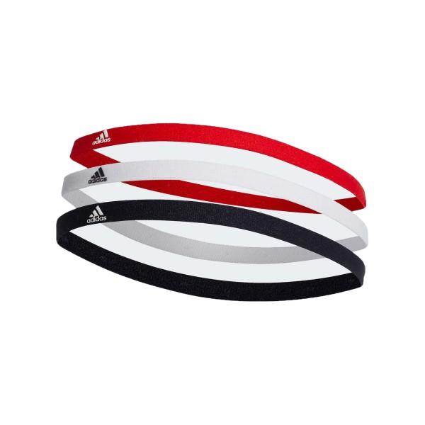 Adidas Hairband 3 PAIR PACK White - Red - Black