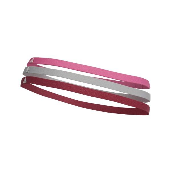 Adidas Hairband 3 Pack Pink - Grey