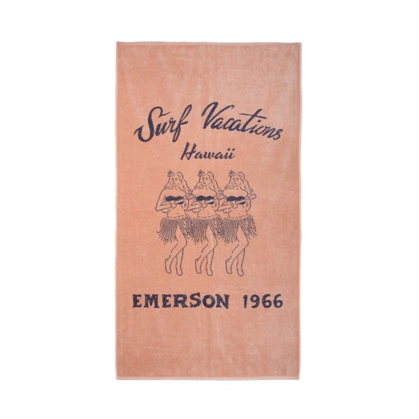 Emerson Towel Surf Vacations Pale Orange - Blue