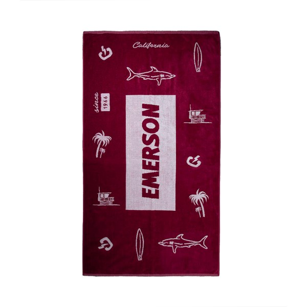 Emerson Logo Berry - White