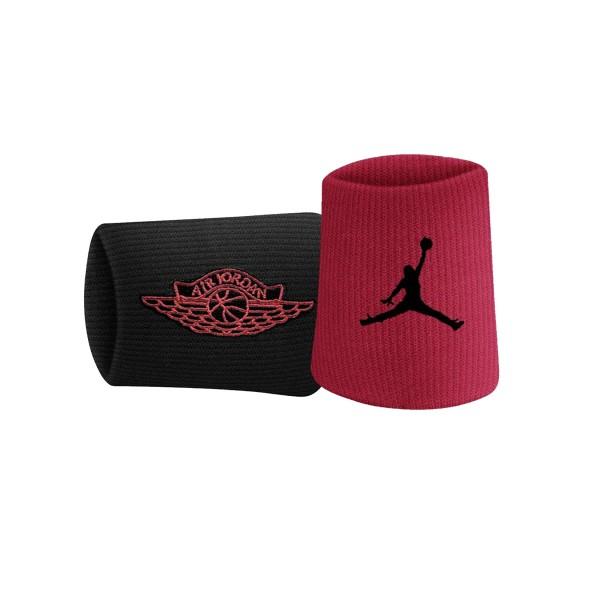Jordan Jumpman X Wings Wristbands  Black - Red