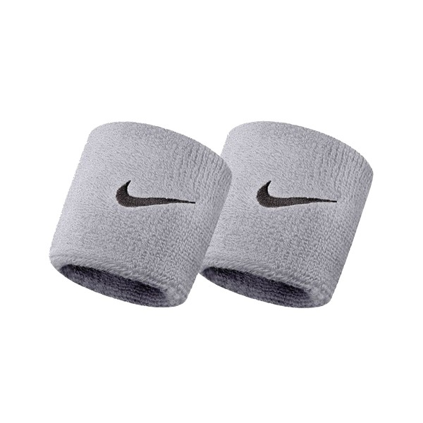 Nike Swoosh Tennis Wristband Grey