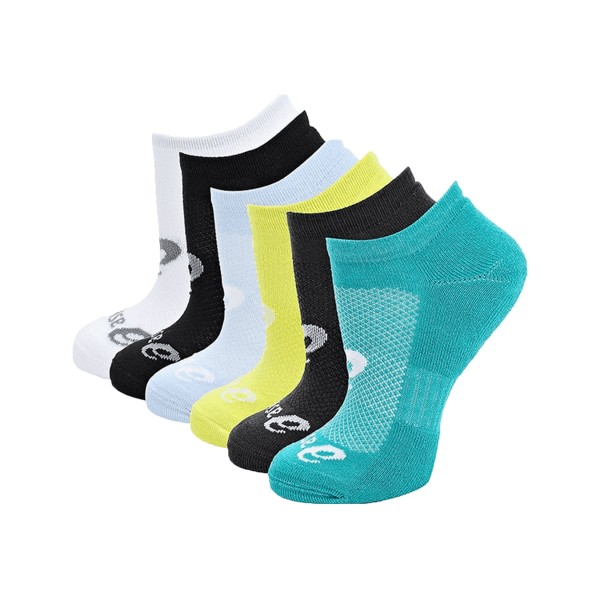 Asics Invisible 6 Pack Socks Multi Color