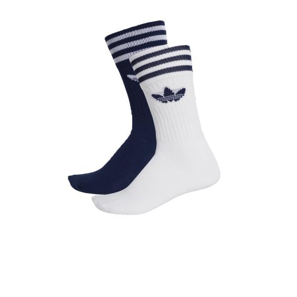 Adidas Originals Solid Crew 2 Pairs Navy - White
