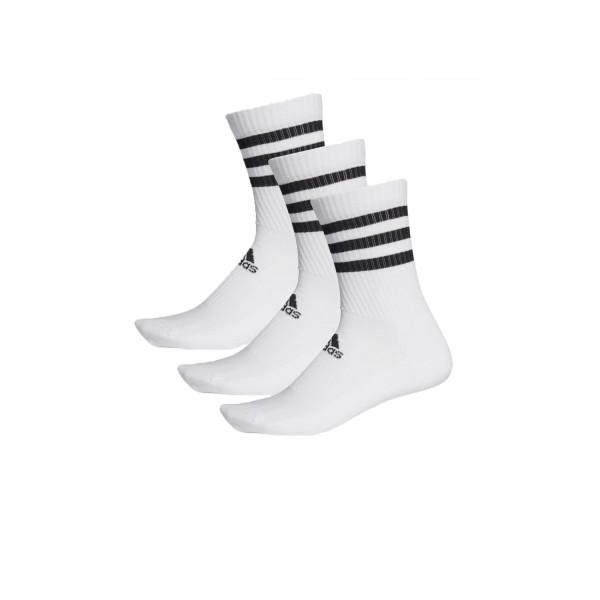 Adidas 3-Stripes Cushioned Crew 3 - Pairs White