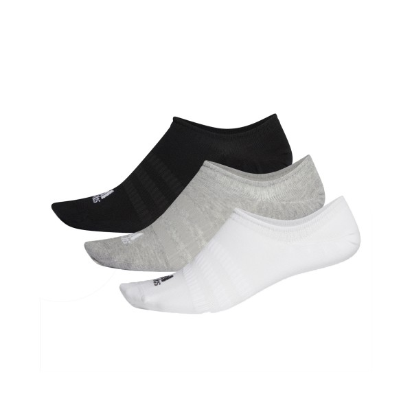 Adidas No Show Socks 3-Pairs Black - Grey - White