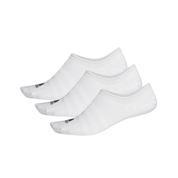 Adidas No Show Socks 3-Pairs White