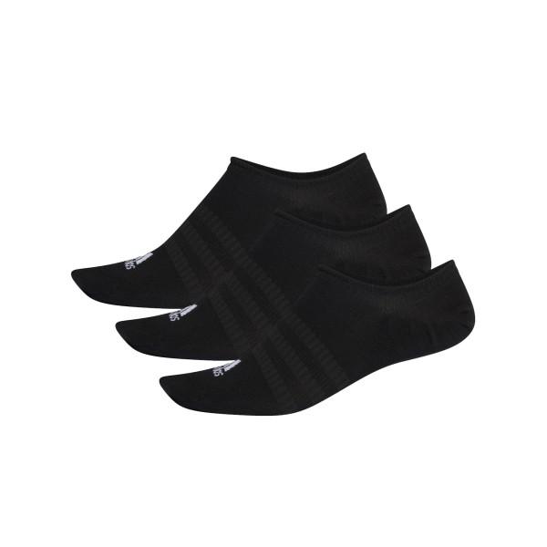 Adidas No Show Socks 3-Pairs Black