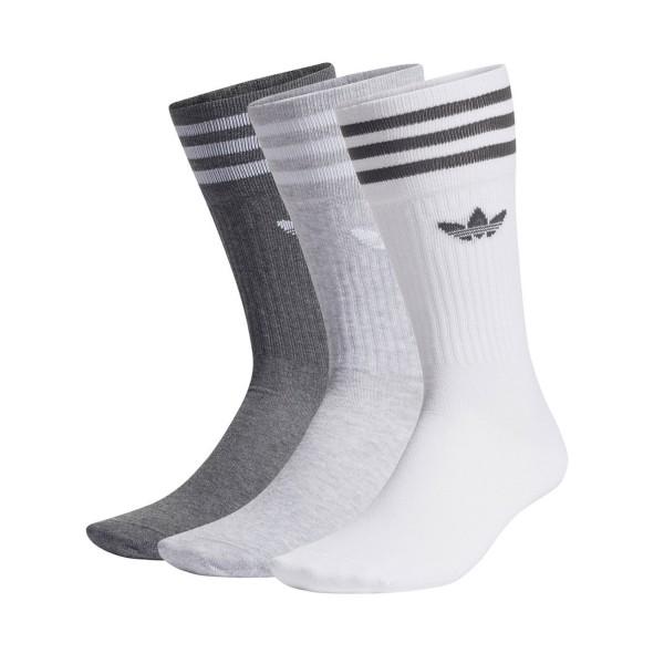 Adidas Originals Sold Crew Socks 3PP White - Grey
