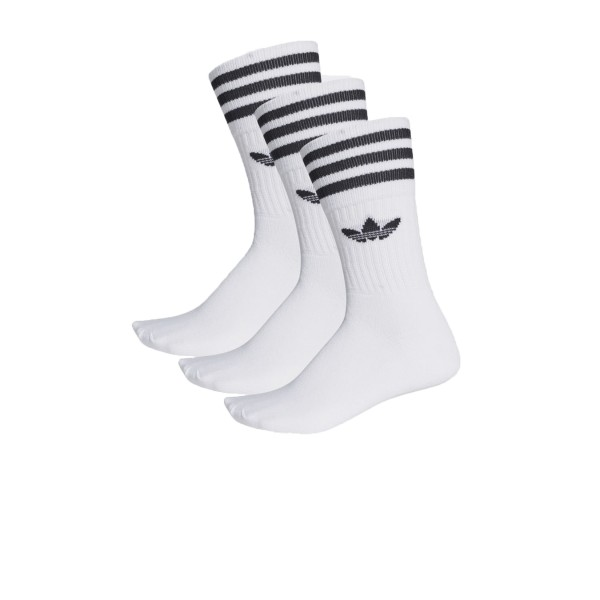 Adidas Originals Solid Crew 3 Pairs White