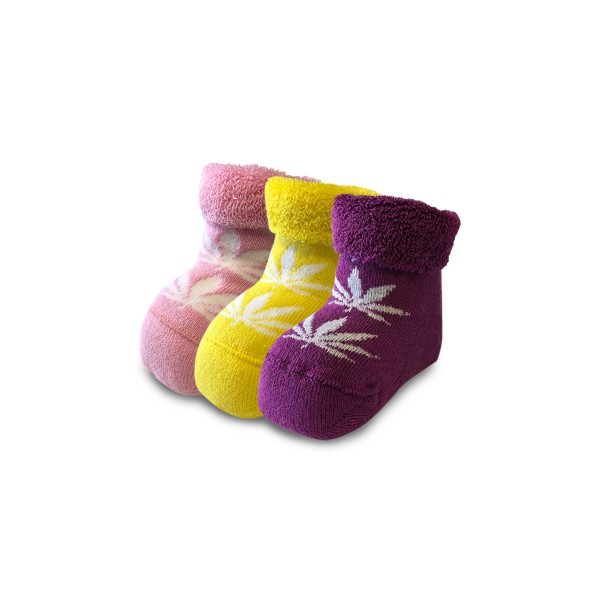 Bee Unusual Baby Leaf 3PK Pink- Yellow - Purple