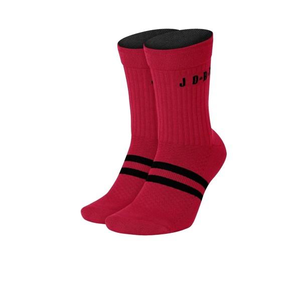 Jordan Legacy Crew Socks 2 Pair Red