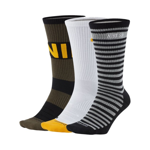 Nike SB Everyday Max Lightweight Socks 3 Pair Mutlicolor