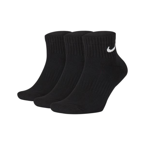 Nike Cushioned Quarter Training Socks 3 Pair Black
