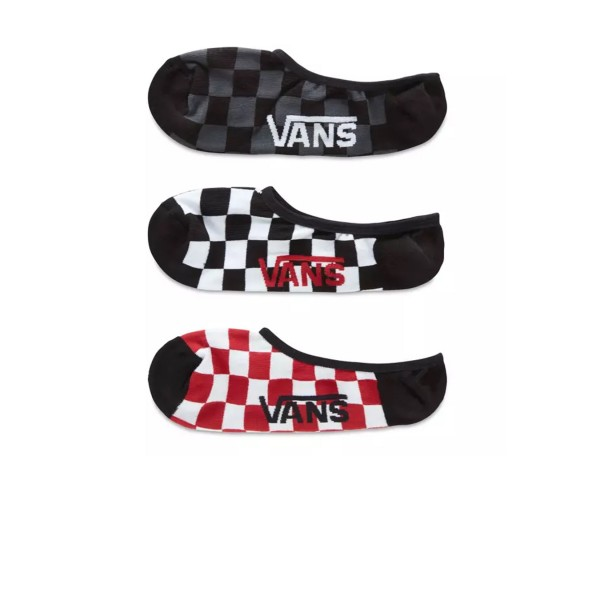 Vans Classic Super Checkerboard No-Show (3 Pairs) Multicolor