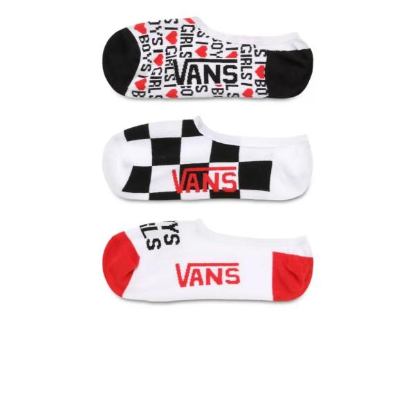 Vans Boys Girls Canoodles No-Show (3 Pairs) Πολύχρωμο Multicolor
