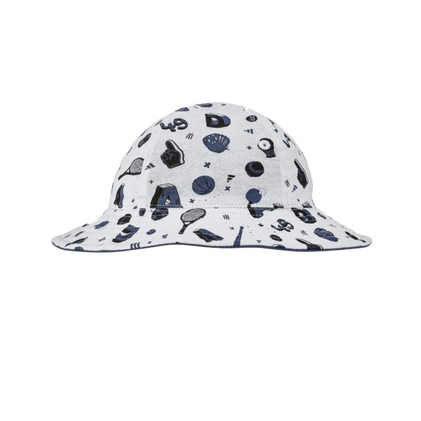 Adidas Double Bucket Hat Infants White - Blue