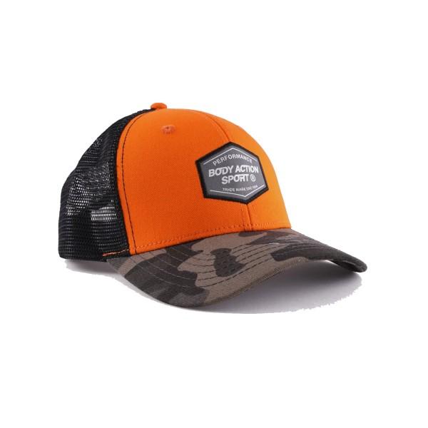 Body Action Camo Baseball Cap Black - Orange