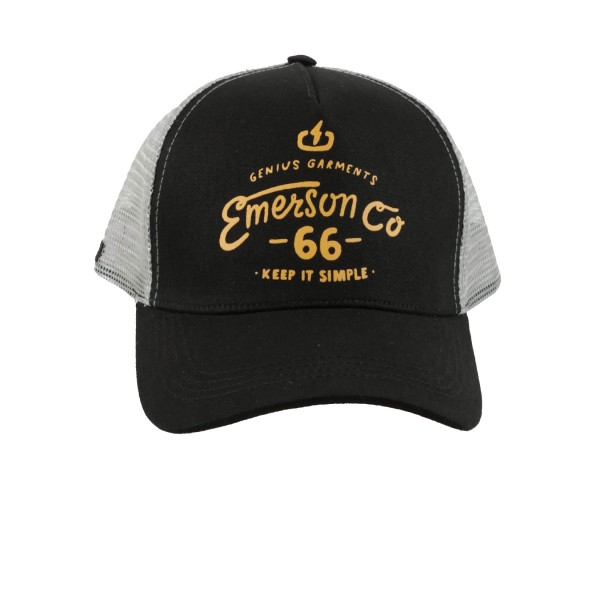 Emerson Trucker Loggo 66 Cap Black - Grey