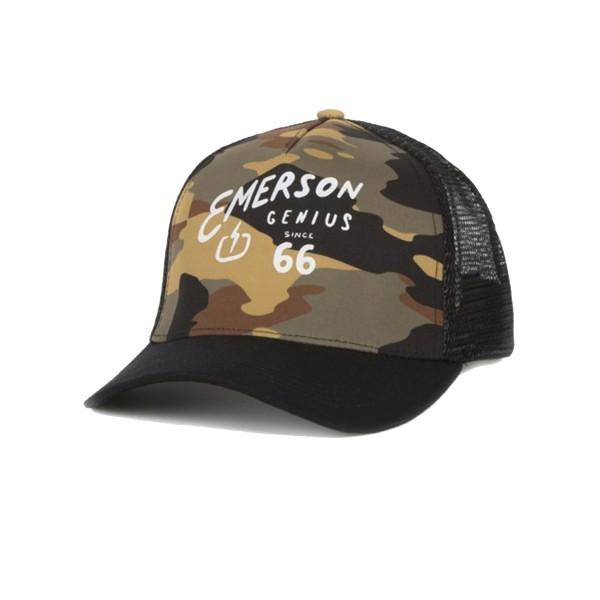 Emerson Trucker Loggo 66 Cap Black - Camo