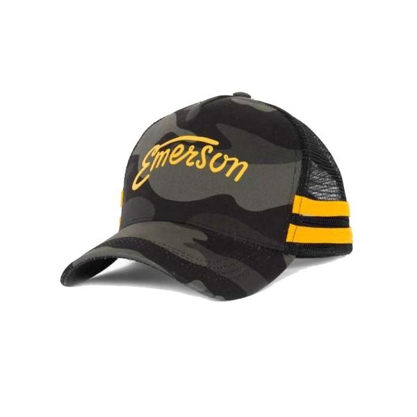 Emerson Trucker 2 Stripes Cap Camo - Yellow