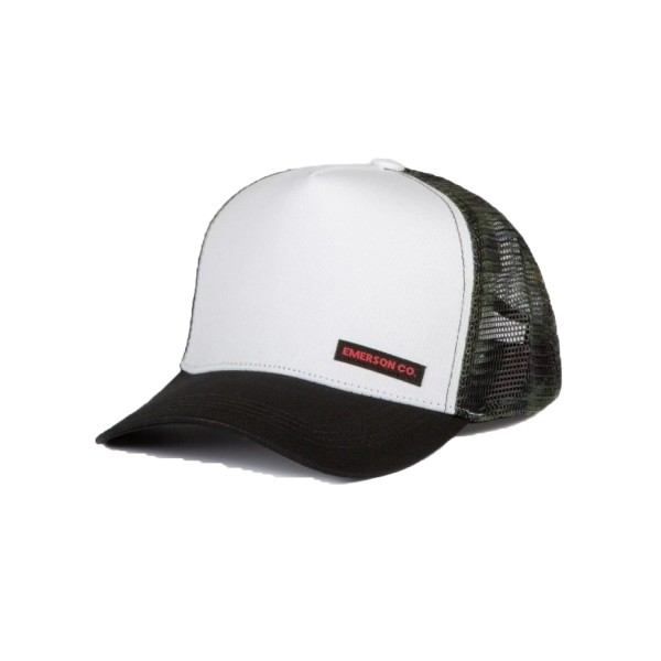 Emerson Trucker Cap White - Black