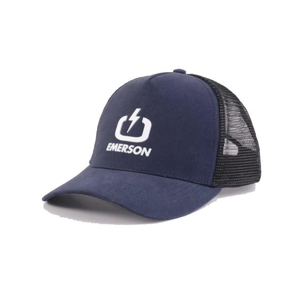Emerson Loggo Trucker Cap Navy Blue