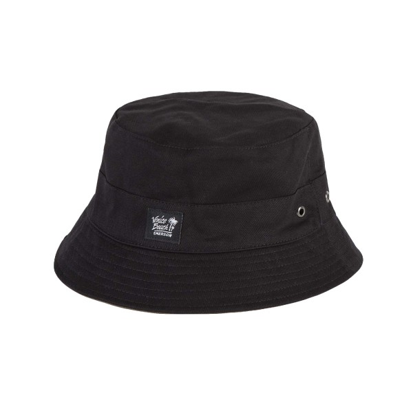Emerson Double Face Twill Bucket Hat Black - Olive