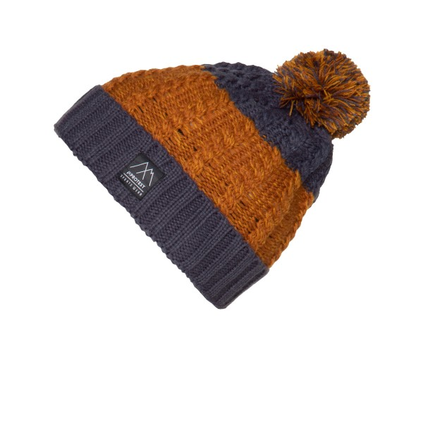 Protest Cropper Pom Beanie Grey - Orange