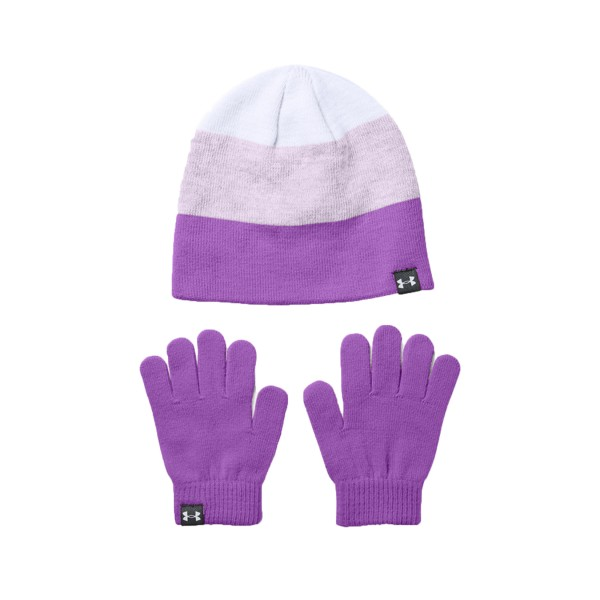 Under Armour Kid Set Beanie - Gloves Purple
