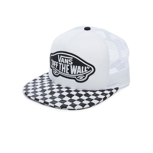 Vans Beach Trucker Checkeboard Black - White