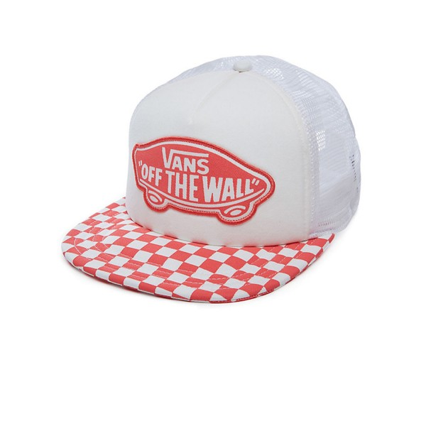 Vans Beach Girl Trucker Checkeboard Spiced Coral
