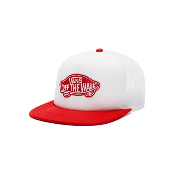 Vans Classic Patch Trucker Cap White - Red
