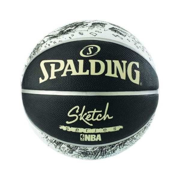 Spalding NBA Sketch Series 7 Black - White