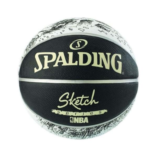 Spalding NBA Sketch Series 7 Μαυρο - Λευκο