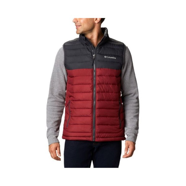 Columbia Powder Lite Vest Black - Bordeuax