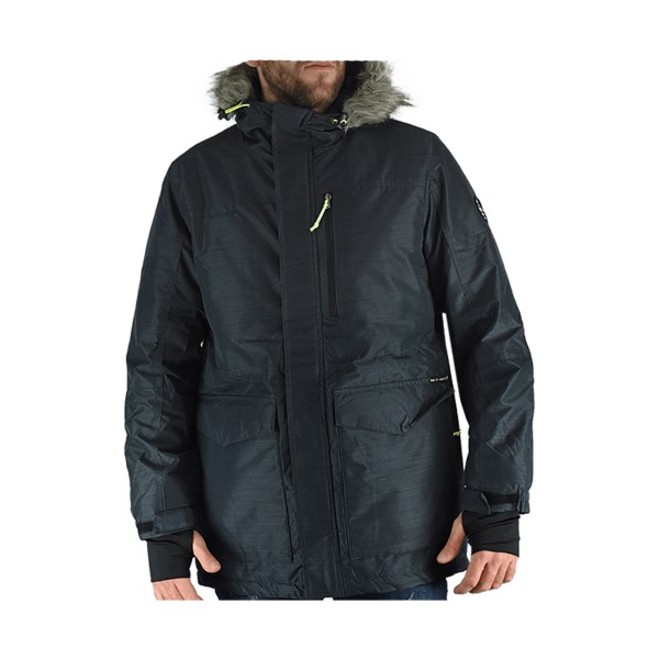 Emerson Ribbed Hooded Jacket Blue