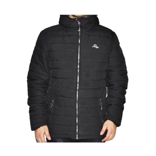 Emerson Hooded Puffer Jacket Black