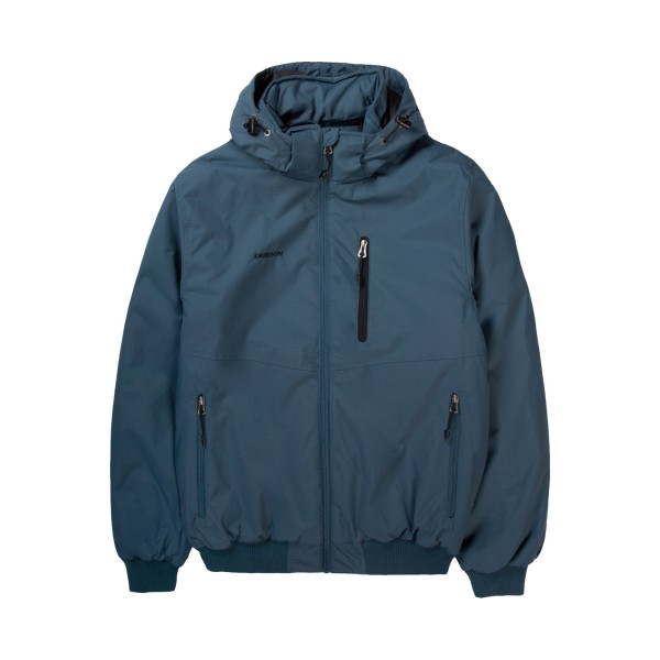 Emerson Ribbed Hooded Jacket Μπλε