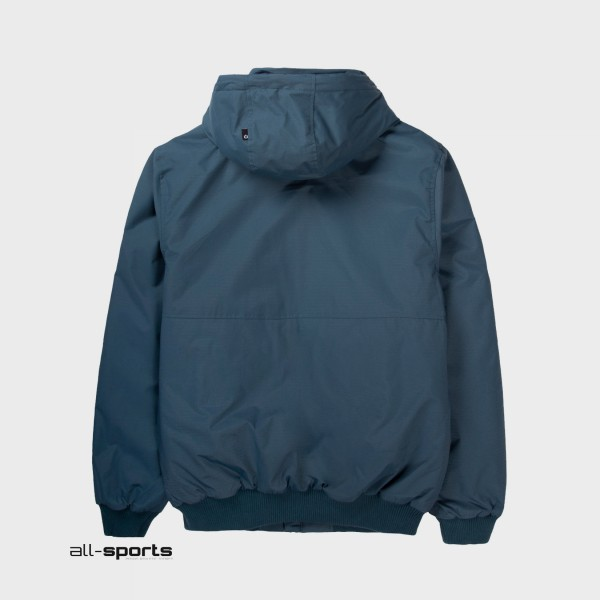 Emerson Ribbed Hooded Jacket Midnight Blue