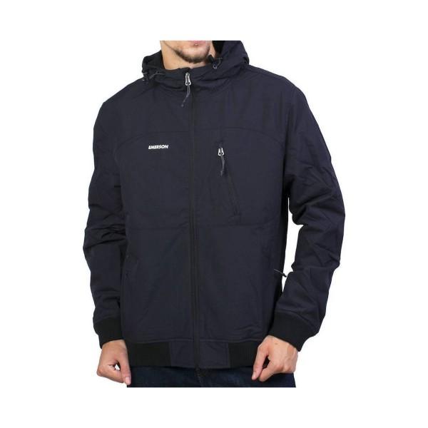 Emerson Ribbed Hooded Jacket Black