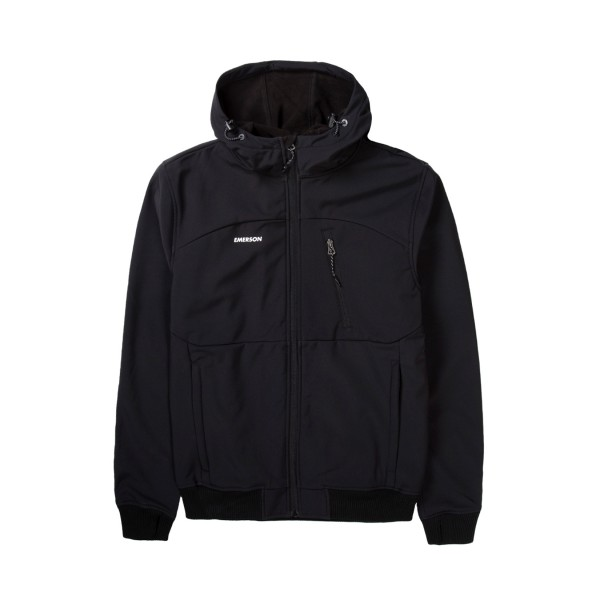 Emerson Hooded Bonded Sport Jacket Black