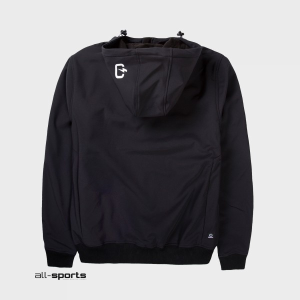 Emerson Hooded Bonded Sport Jacket Black
