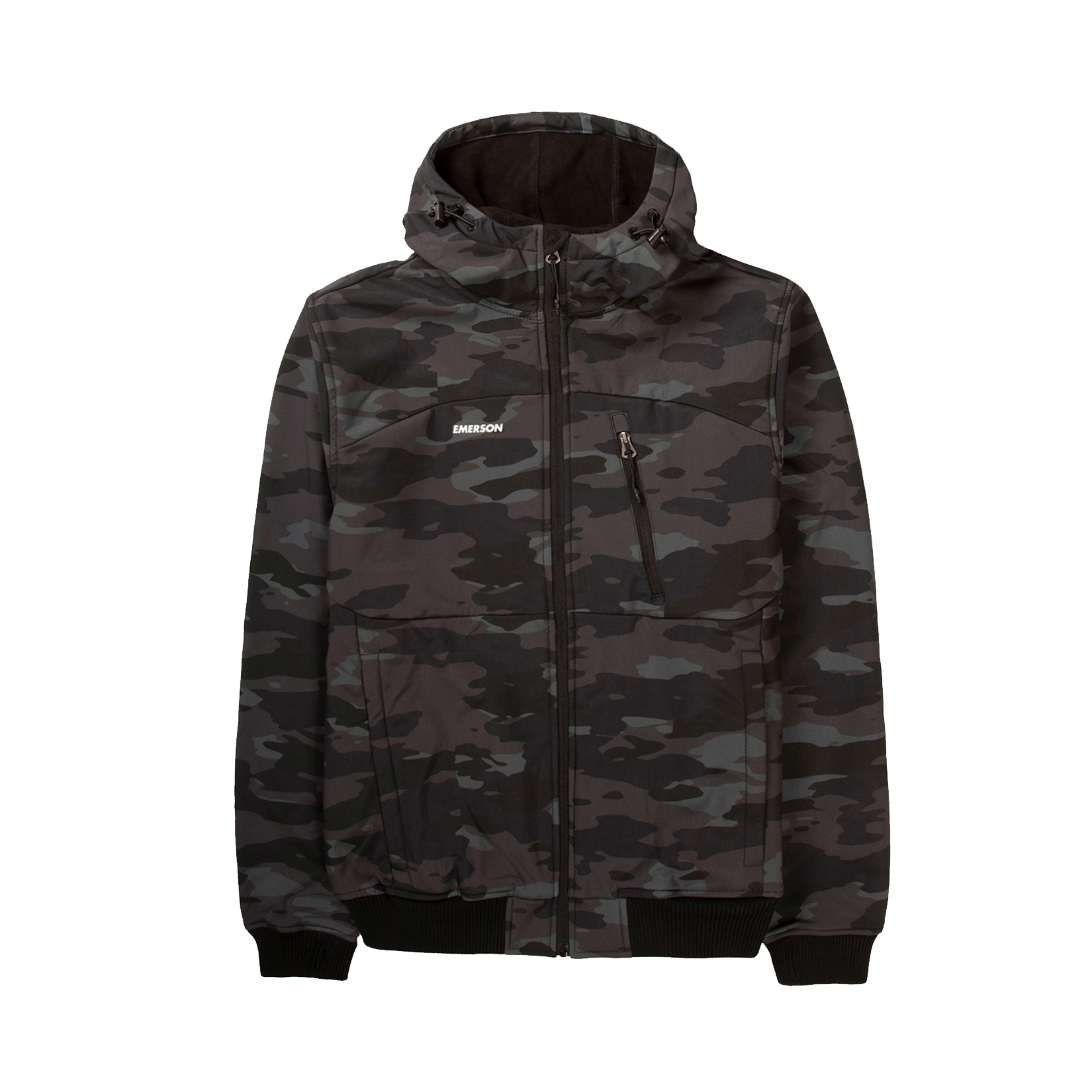 Emerson Hooded Bonded Sport Jacket Camo