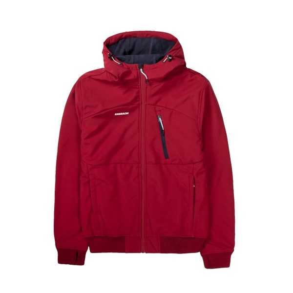 Emerson Hooded Bonded Sport Jacket Red