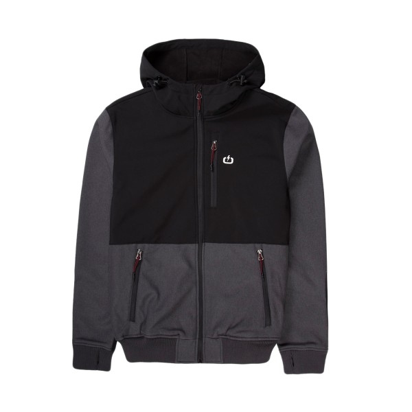 Emerson Soft Shell Ribbed Jacket Black - Grey