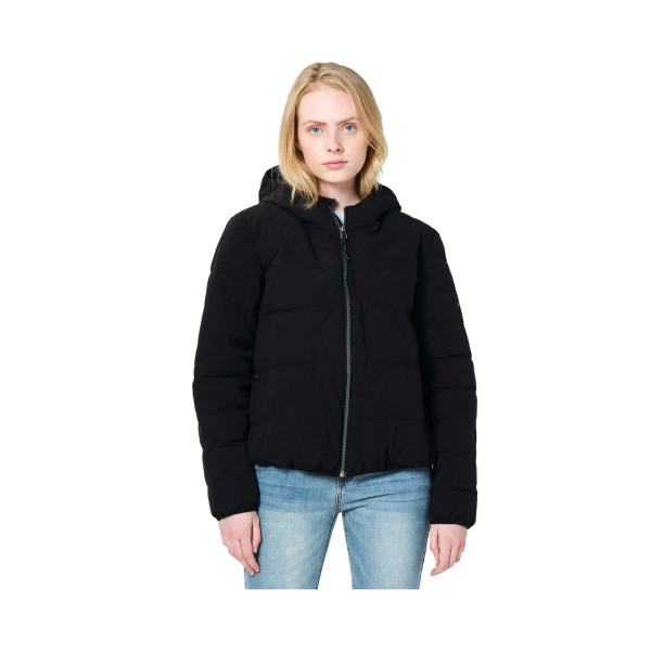 Emerson Hooded Puffer Jacket W Black